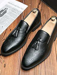 cheap -Men's Loafers & Slip-Ons Leatherette Loafers Dress Loafers Penny Loafers Casual Daily Walking Shoes PU Breathable Non-slipping Wear Proof Black Brown Spring
