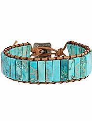 cheap -plumiss boho handmade blue imperial jasper stone bracelet jewellery for women and girl