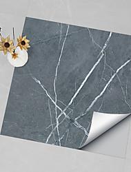 cheap -Hard Piece Marble Tile Sticker Black Gray Granite Wallpaper Self-adhesive Wall Sticker Removable Waterproof Sticker Home Kitchen Bathroom Blue Silver Marble Wallpaper