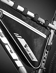 cheap -4 L Bike Frame Bag Top Tube Reflective Waterproof Portable Bike Bag PVC(PolyVinyl Chloride) Polyster Bicycle Bag Cycle Bag Outdoor Exercise Bike / Bicycle