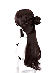 cheap -original god beidou cosplay wig brown and black face shape cos game anime fake found goods
