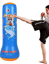 cheap -Punching Bag For Taekwondo Martial Arts Kick Boxing Leak-Proof Explosion-Proof Non Toxic PVC Kid's Blue