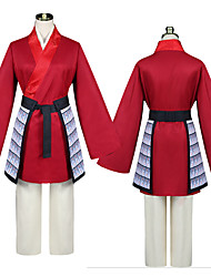 cheap -Cosplay Cosplay Costume Outfits Women's Movie Cosplay Red Top Pants Waist Accessory Polyester