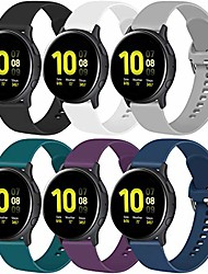 cheap -6 pack sport bands for samsung galaxy watch active 2 40mm 44mm & active 40mm & galaxy watch 3 41mm & galaxy watch 42mm, 20mm soft silicone replacement band for galaxy watch active 2 (6 pack a, large)