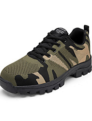 cheap -Men's Safety Shoe Boots Sporty Office & Career Tissage Volant Breathable Black Grey Black / Green Spring Summer