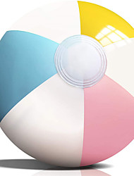 "cheap -Inflatable Beach Balls - 12 Pack, 16"" Diameter, White Panels Alternate with Macaron Colors, Leak-Proof PVC - Summer Beach Pool Party Supplies, Fun Floating Toys for Teenagers, Adults"