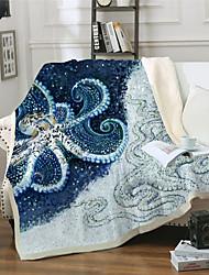 cheap -Microfiber Throw Blanket All Season For Couch Chair Sofa Bed Picnic Octopus Sea Ocean Animals Soft Fluffy Warm Cozy Plush Autumn Winter
