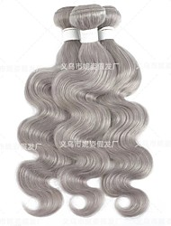 cheap -amazon new product european and american wig female chemical fiber hair curtain bodywave gray wig manufacturer spot wholesale