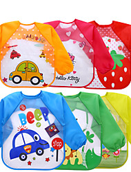 cheap -Baby's Eva Smock Baby Children Long-Sleeved Waterproof Anti-Wearing Clothes Baby Three-Dimensional Disposable Baby Eating Clothes Bib Wholesale