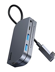 cheap -BASEUS High Speed with Card Reader(s) OTG with Independent Switches USB 3.0 USB C to HDMI 2.0 USB 3.0 USB 3.0 USB C 3.5mm Audio TF Card USB Hub 6 Ports For Windows, PC, Laptop