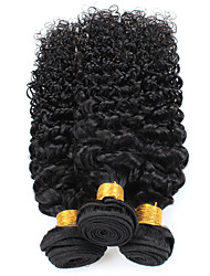 cheap -3 Bundles Hair Weaves Brazilian Hair Curly Human Hair Extensions Remy Human Hair Human Hair Extensions 8-24 inch Natural Cosplay Best Quality New Arrival / 8A
