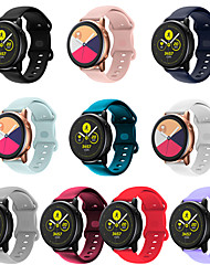cheap -Smart Watch Band for Samsung Galaxy 1 pcs Sport Band Classic Buckle Silicone Replacement  Wrist Strap for Galaxy watch active 3 41mm 45mm
