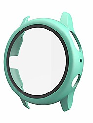 cheap -case compatible with galaxy watch active 2 screen protector, pc plated tempered glass screen full protective cover 2 in 1 case for galaxy watch active 2 40mm 44mm