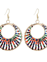 cheap -dangle earrings hollow bohemian ethnic style geometric beads exaggerated exquisite earring