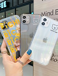 cheap -Phone Case For Apple Back Cover iPhone 12 Pro Max 11 SE 2020 X XR XS Max 8 7 Shockproof Dustproof Translucent Graphic TPU
