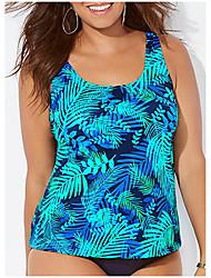 cheap -Women's Tankini 2 Piece Swimsuit Slim Multi Plus Size Swimwear Bathing Suits New / Padded Bras / Beach