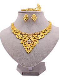 cheap -Women's Bridal Jewelry Sets Earrings Jewelry Gold For Wedding Gift Engagement