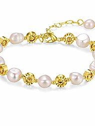 cheap -pearl bracelet (geometric pearl)