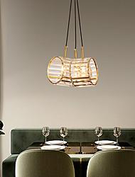 cheap -LED Pendant Light Crystal Kitchen Island Light Circle Ring Design 30 cm Unique Design Pendant Light Copper LED Nordic Style 220-240V 110-120V