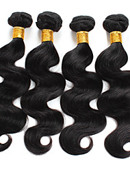 cheap -Ishow 4 Bundles Human Hair Weaves Brazilian Virgin Wig Colorable Hair Curtain 100% Natural Hair 8Abody Wave 4 Combinations 8-28 Inch Hair Extensions