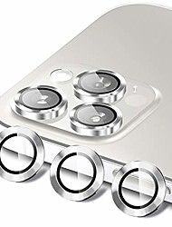 cheap -hatoshi camera lens protector compatible with iphone 12 pro max, hd clear premium 9h tempered glass metal aluminum alloy camera screen ring circle cover film - silver