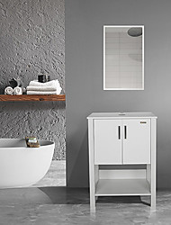 cheap -Bathroom Vanity MDF and ceramic materials White Furniture