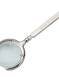 cheap -Sliver Hand Held Magnifying Glass 10X For Office and Teaching