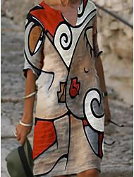 cheap -Women's A Line Dress Element 5 Element 3 Element 4 Element 2 Element 1 Casual S M L XL XXL 3XL