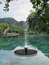cheap -Solar Fountain Pool Light 2pcs 1pcs Solar Water Fountain Pool Pond Waterfall Fountain Garden Decoration Outdoor Bird Bath Solar Powered Fountain Floating Water