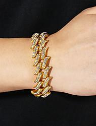 cheap -Cuban Chain Link Bracelet  Birthday European Alloy Bracelet Jewelry Silver For Gift Birthday
