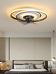 cheap -LED Ceiling Fan Light Black Gold Modern Circle Design 50cm Metal Vintage Style Modern Style Classic Painted Finishes LED Nordic Style 220-240V 110-120V