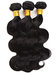 cheap -Ishow 3 Bundles Human Hair Weaves Brazil Hair 100% Human Hair 3 Pieces Body Human Hair Combination Outfit 8-28 Inch Hair Extensions