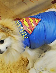 cheap -Dog Costume Dog clothes Quotes & Sayings Leisure For Indoor and Outdoor Use Casual / Daily Outdoor Winter Dog Clothes Puppy Clothes Dog Outfits Warm Blue Costume for Girl and Boy Dog Polyester XS S M