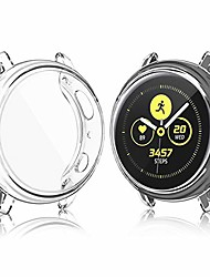 cheap -vanjua hd case compatible with samsung galaxy watch active 2 screen protector case 44mm 40mm, soft tpu bumper full around cover for samsung galaxy watch active 2 40 44 (clear, 40mm)
