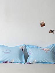 cheap -2 Pack 50*75cm Pillowcases/Pillow Shams Print Soft Microfiber Floral/Flower