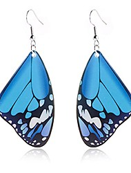 cheap -andpai unique chic charm bohemia colorful acrylic resin monarch butterfly wing drop earrings animal butterfly dangle earring for women girls statement party jewelry gifts (blue)