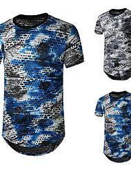cheap -Men's Tee T shirt Shirt Graphic Rendering Plus Size Short Sleeve Casual Tops Basic Designer Hip Hop Slim Fit Blue Gray