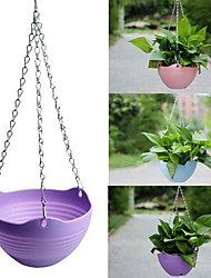 cheap -Resin Hanging Baskets for Plants Flower Pot Basket Hanging Planter Container Garden Plant Hanger Wall Decor Home Decoration