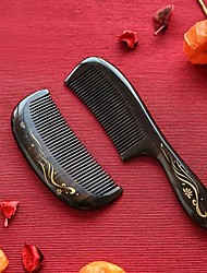 cheap -Hand-painted Comb With Painted GoldMassage Comb Scalp Massager Wooden Comb Large Plate Comb Curly Hair Comb Air Bag Comb