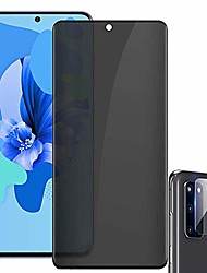 cheap -galaxy s20 screen protector, [1+1] [privacy anti spy] [camera lens screen protector] [touch sensitive] [scratch resistant] tempered glass screen protector for samsung galaxy s20 5g