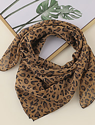 cheap -Women's Square Scarf Party Leopard Scarf Leopard