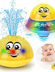 cheap -Bath Toys, 2 in 1 Induction Spray Water Toy & Space UFO Car Toys with LED Light Musical, Automatic Sprinkler Bathtub Toys Light Up Bath Toys for Kids Toddlers 1-3