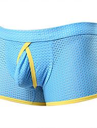 cheap -Men's Mesh Boxers Underwear Low Waist 1 PC Blue S