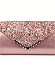 cheap -Women's Bags Polyester Evening Bag Sequin Chain Solid Color Party Wedding 2021 Chain Bag Blushing Pink Black Gold Silver