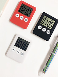 cheap -Kitchen Timers Minute Second Count Up Count Down Fashion Simple Super Thin LCD Digital Screen Kitchen Timer Square Cooking Timer