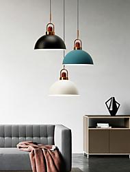 cheap -LED Pendant Light Modern Nordic Design Kitchen Island Light Black White Gray Blue Pink Dark Blue 35cm Single Design Metal Painted Finishes 110-240 V
