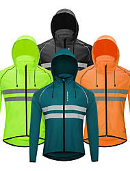 cheap -WOSAWE Women's Men's Cycling Jersey Cycling Jacket Winter Bike Jacket Tracksuit Windbreaker Windproof Quick Dry Breathable Sports Stripes Solid Color Navy / Black / Orange Mountain Bike MTB Clothing
