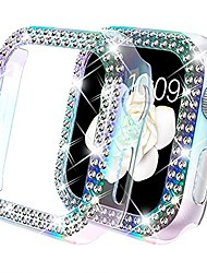 cheap -Smart watch Case compatible for apple watch 44mm case cover bumper , bling women girls protective cover dressy diamonds bumper hard pc shockproof rhinestone case for se iwatch series 6 5 4(44mm)