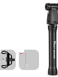 cheap -Mini Bike Pump Mini Bike Pump With Gauge Inflated For Road Bike Mountain Bike MTB Folding Bike Recreational Cycling Cycling Bicycle Aluminum Alloy Black