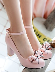 cheap -Girls' Heels Formal Heel Tiny Heels for Teens PU Dress Shoes Little Kids(4-7ys) Big Kids(7years +) White Black Pink Spring &  Fall